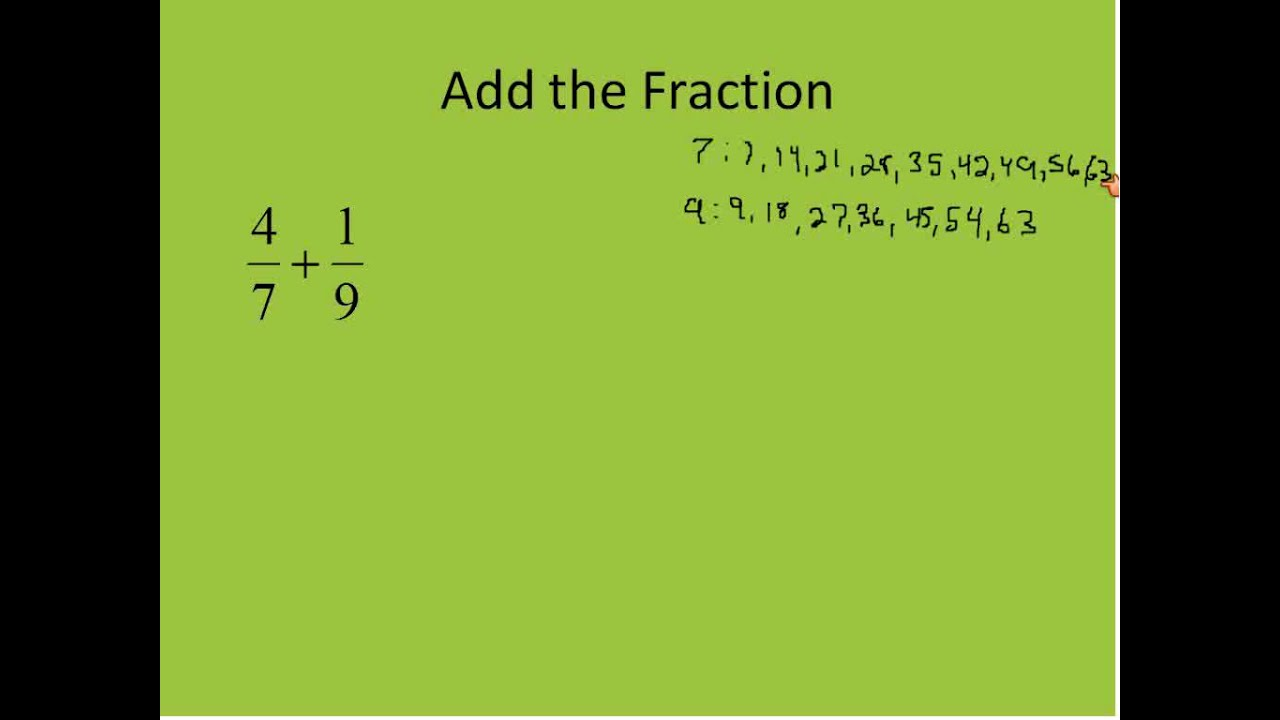 simplest form adding and subtracting fractions  Adding and Subtracting Fractions Part 10 (Simplifying Math)
