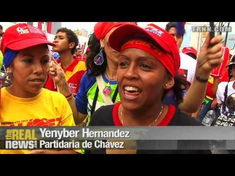Los Partidos de Chávez Inundan la Capital al Cierre de la Campaña
