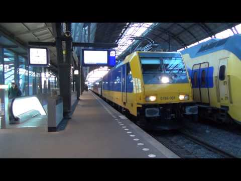 NS 186 009 + InterCity Direct vertrekken uit Station Amsterdam Centraal