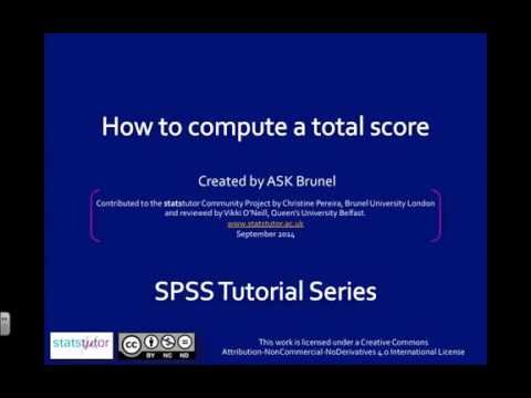 Compute a total score from several variables in SPSS
