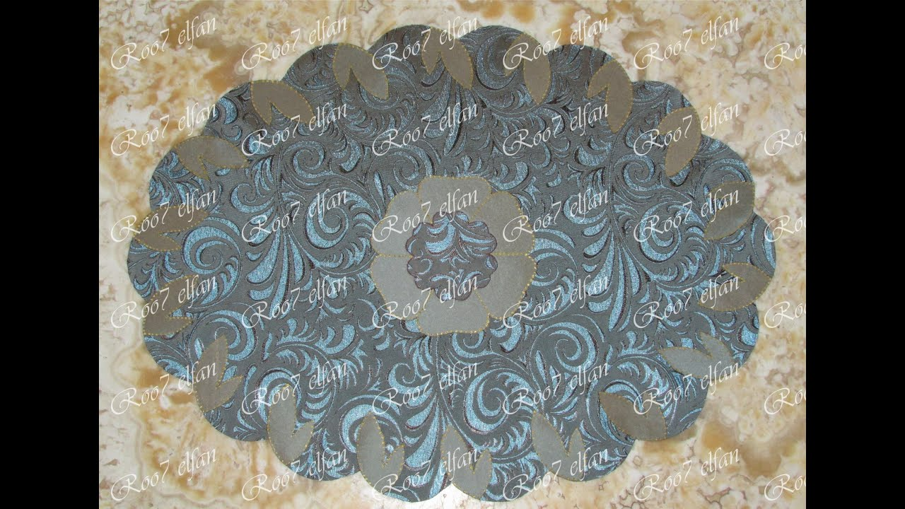 طريقةصنع مفرش تربيزة بيضاوىHow To Make An Oval Tablecloth Using Welding Iron