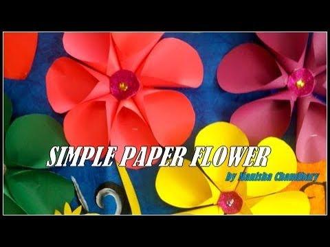 download Simple paper flower tutorial