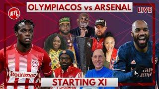 Olympiacos vs Arsenal | Starting XI Live
