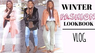 WINTER LOOKBOOK 2017 | Winter Fashion Outfit Ideas Style Tips + Vlog #4 - Rose Kimberly