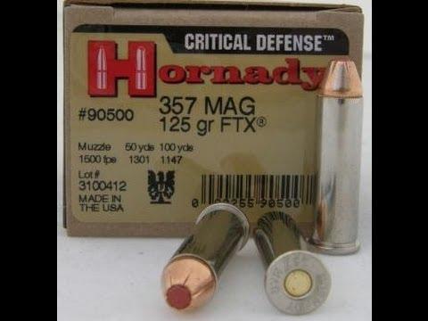 Clear Ballistics Gel: Hornady Critical Defense  357 Magnum test