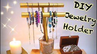 DIY : jewerly holder طريقة عمل حامل الاكسسوارات سهلة