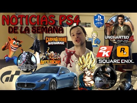NOTICIAS PS4 DE LA SEMANA - 2K - GT SPORT - ROCKSTAR - UNCHARTED 4 - SQUARE ENIX - CARMAGEDOON