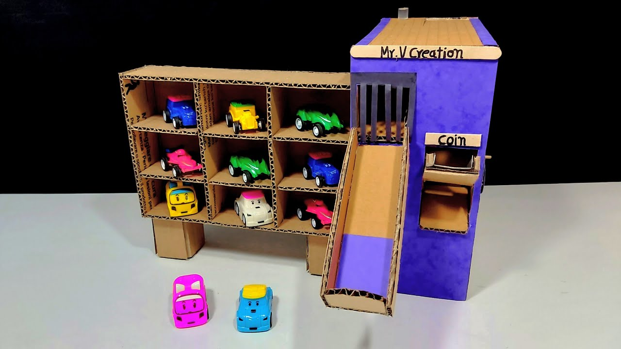 Download DIY Car Vending Machine || How to Make Toy Car Vending machine From Cardboard No Dc Motor