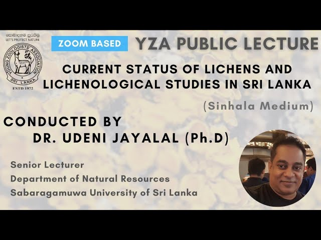 Current Status of Lichens and Lichenological Studies in Sri Lanka