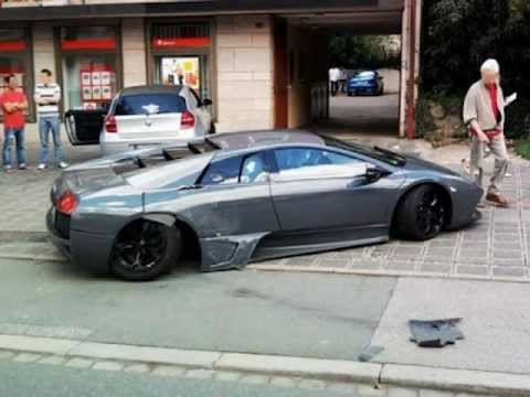 Wrecked Exotic Cars - Pictures of Expensive Car Crashes and Wrecks