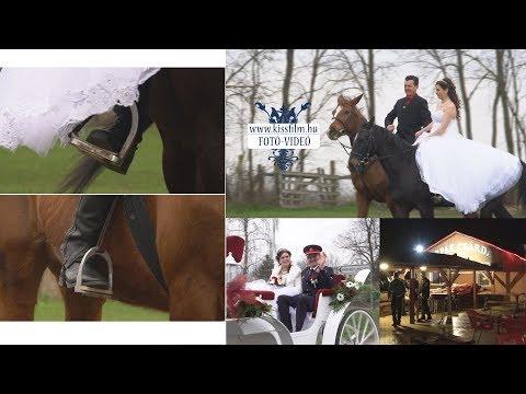 Vivien és Norbert - lovas esküvő - Tirpák Csárda, Nyíregyháza /KISSFILM.HU/