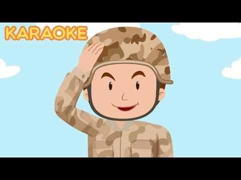 KARAOKE 5 Five Little Soldiers Nursery Rhymes for Children - Kids Songs Cartoons