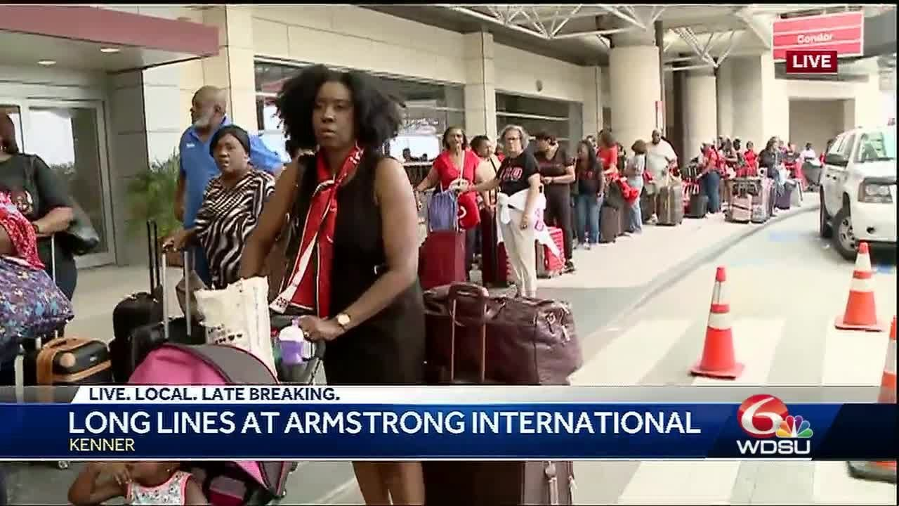 Cancellations, long lines and delays at airport