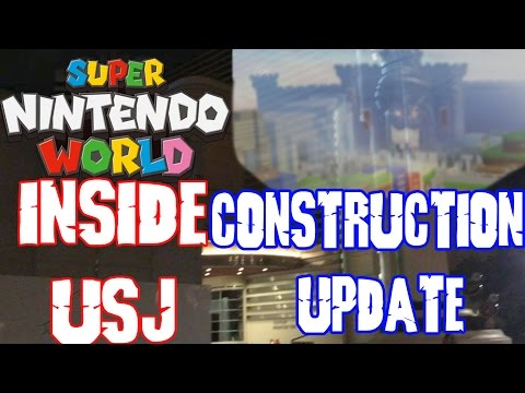 Super Nintendo World Construction Update