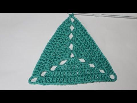 Trójkąt Na Szydełku Wzór 2 Triangle On Crochet Youtube