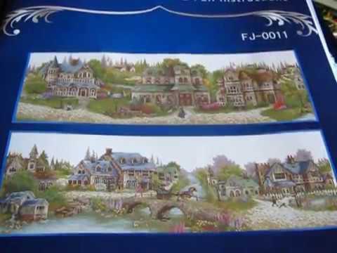 24 Обзор набора для вышивки крестиком от DOME Зеленая деревенька .