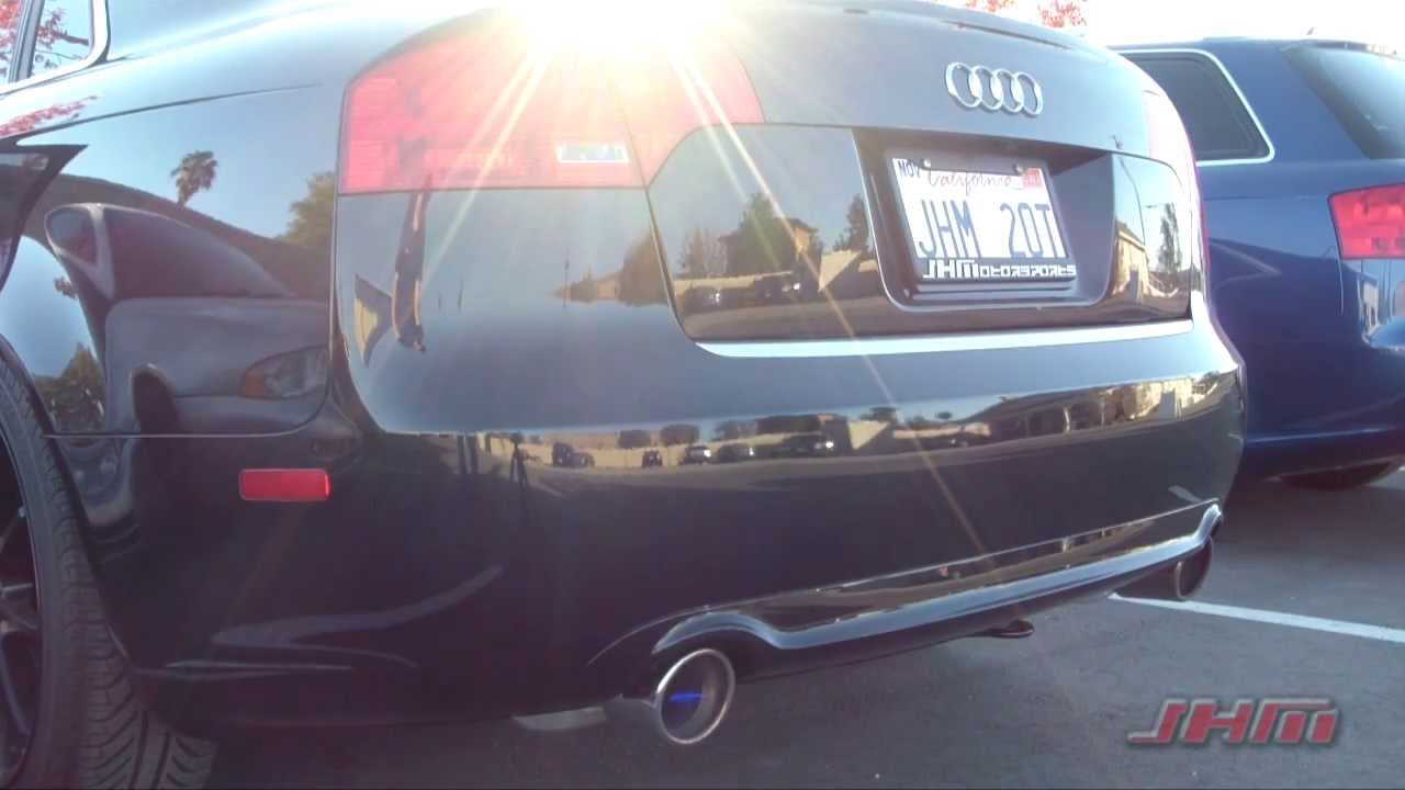 maxresdefault jhm b7 a4 2 0t turbo back exhaust system youtube