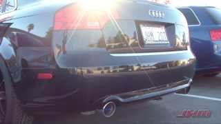 jhm b7 a4 2 0t turbo back exhaust system