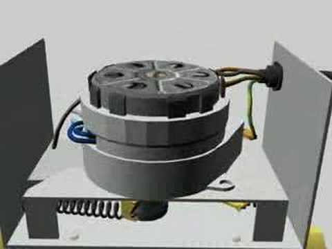 Two Port Motorised Valve 3d animation - YouTube