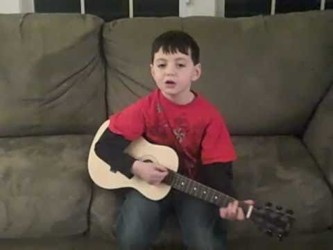Devin, a 6 Yr Old singing Justin Bieber's Baby with guitar ...