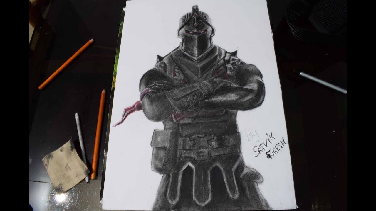 Fortnite Dark Knight Drawing Time Lapse I Drawthings Charcoal