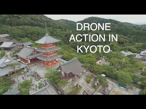 Drone Action In Kyoto
