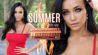 Summer GRWM : NAKED HEAT Palette + OUTFIT!