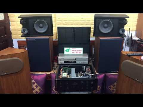 Test Amply Sansui 607 xdecat (Japan) với loa Bose 301 seri 3 (USA) sx Mexico. Fb : 094 26 26 836