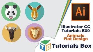 Illustrator CC Tutorials | E09 | Animals Flat Design