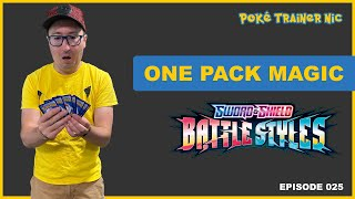 Pokémon Sword & Shield Battle Styles One Pack Magic or Not, Episode 25 #Shorts