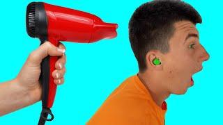 M&M'S STUCK IN EAR!
