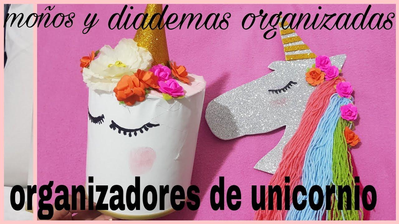 Organizador Para Moños Y Diademas De Unicornio Para Niñas