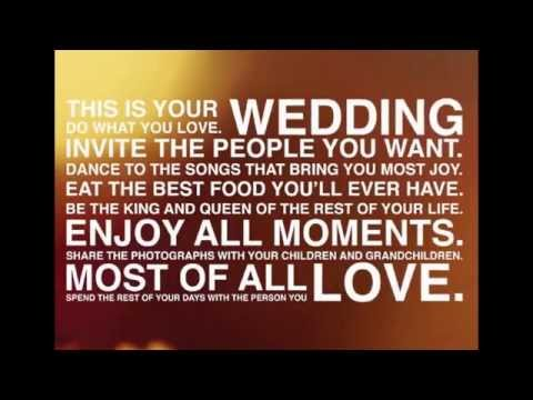 Great Wedding Speeches and Wedding Quotes