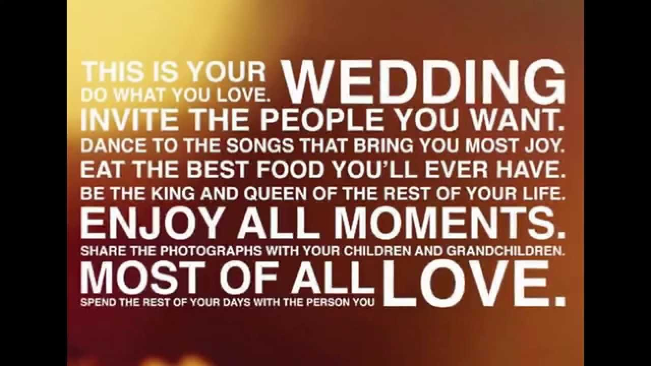 Great Wedding Speeches and Wedding Quotes - YouTube