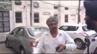 traffic police challan | drunk man driving in punjab