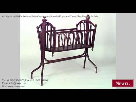 Art Moderne/1940s Antique Baby Carriage/crib/cradle Rope