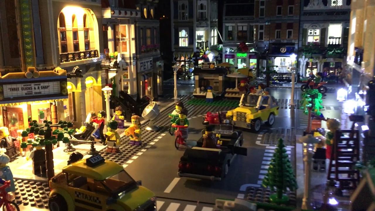 Lego city e le sue luci di notte aprile 2017 youtube