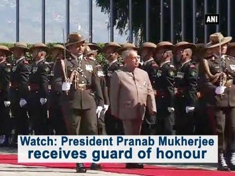 Watch: President Pranab Mukherjee receives guard of honour