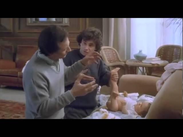 Trois hommes et un couffin ( bande annonce )