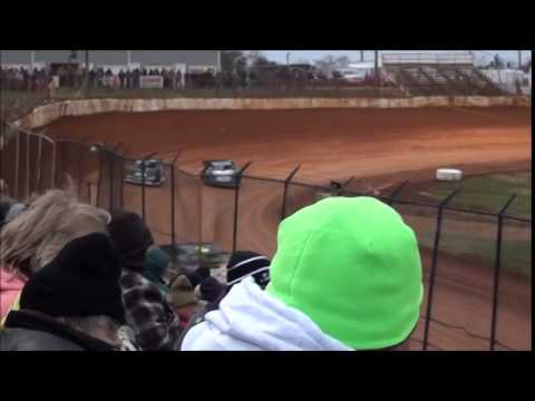 Super Late Model Heat #3 from 411 Motor Speedway 1/1/15.