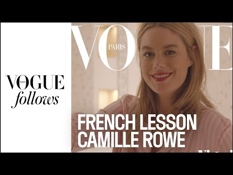The iest French lesson with Camille Rowe for Victoria's Secret | VOGUE PARIS