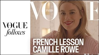 The sexiest French lesson with Camille Rowe for Victoria's Secret | VOGUE PARIS