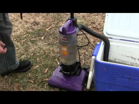 Vacuum Cleaner Sucks Up Water