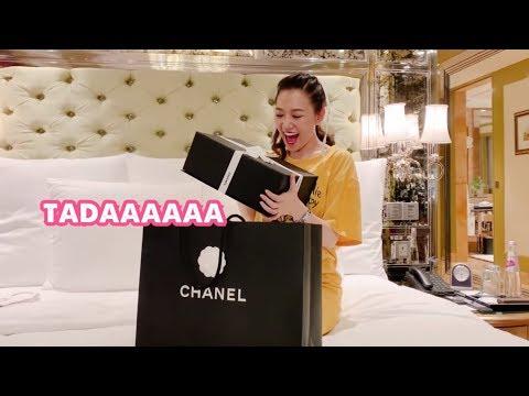 (한) Hari đập hộp quà sinh nhật hàng hiệu của Trấn Thành 쩐탄의 명품 선물을 뜯어보는 나