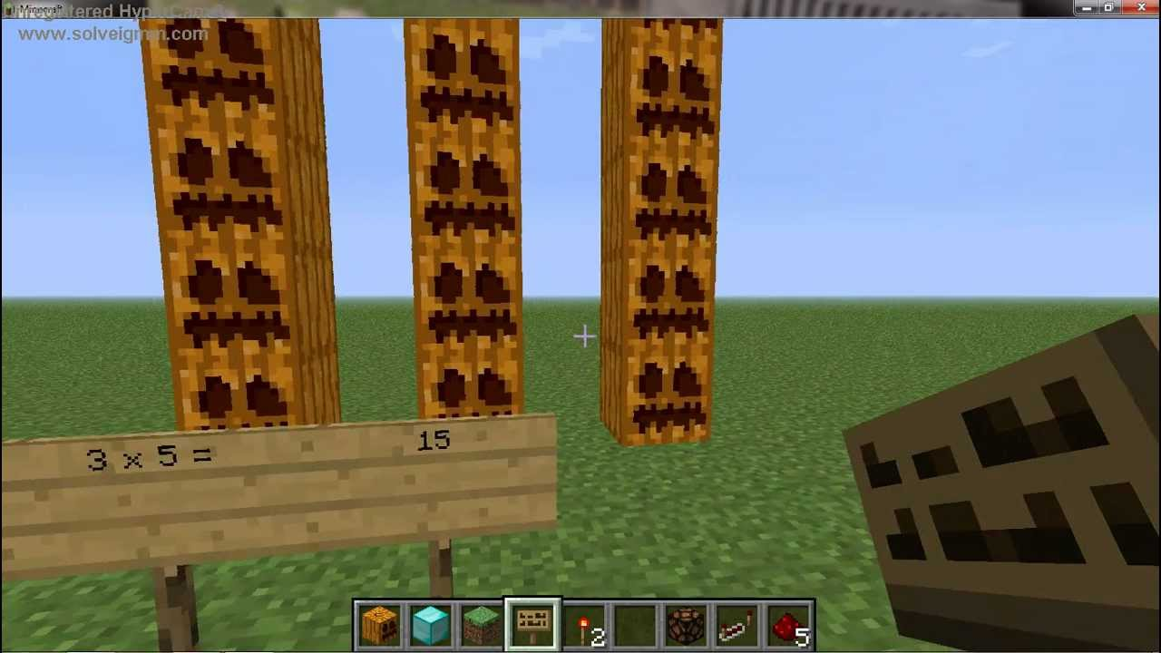 Minecraft Multiplication Arrays Youtube