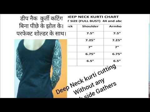 Deep  Back neck Kurti Cutting.without any back wrinkles.