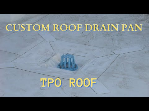 6 Flat Roof Drain Installation On A Tpo Roof By A