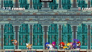 [Sonic Mugen 04] Team Sonic Freedom Fighter Vs Team Knuckles Chaotix
