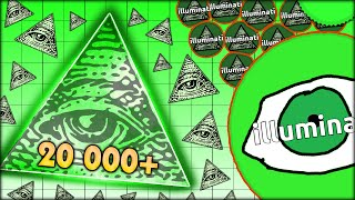 CRAZY ILLUMINATI 333 PLAYS AND BIGGEST 20 000+ MASS ON ORIGINAL AGARIO (AGAR.IO #46)