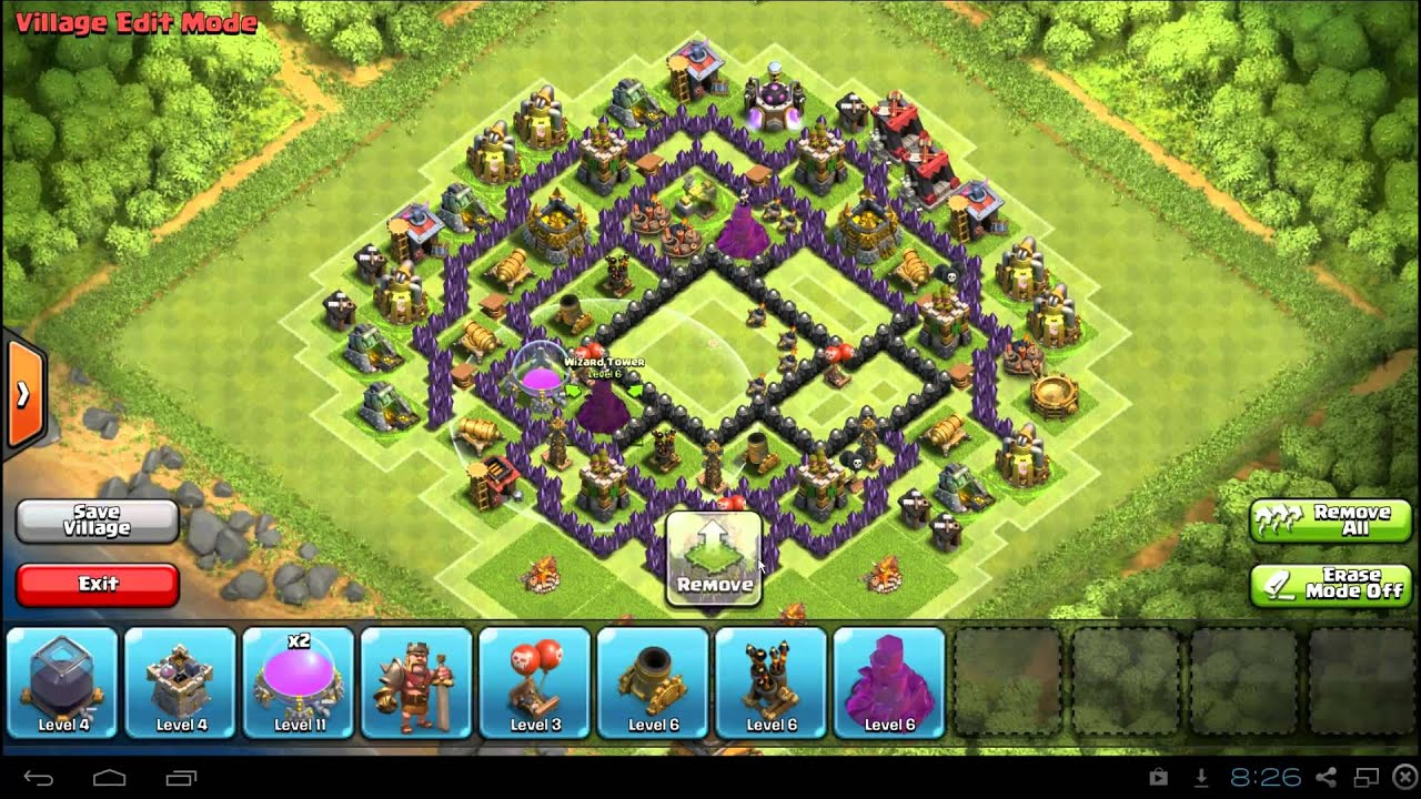 Clans Best Town Hall 8 Base Layout: TH8 Farm / War Defense - YouTube